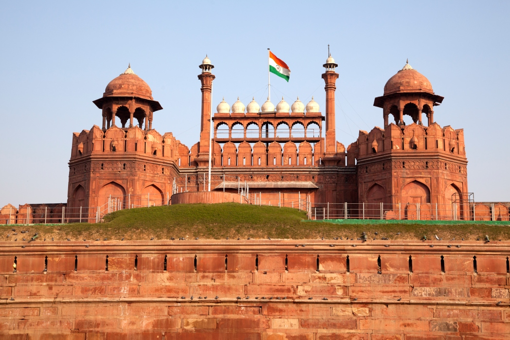 The Red Fort in Delhi hosts a daily sound and light show