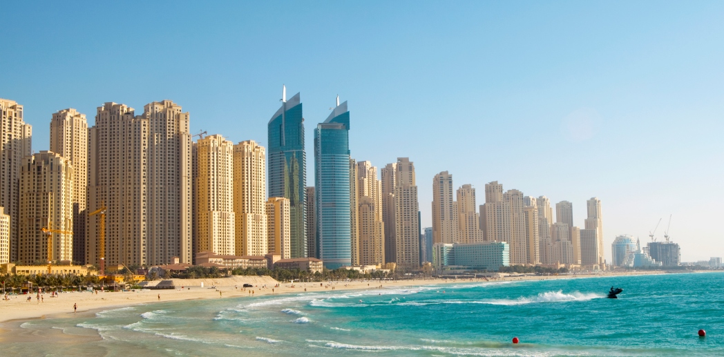 The beach at Jumeirah Beach Residence is very popular