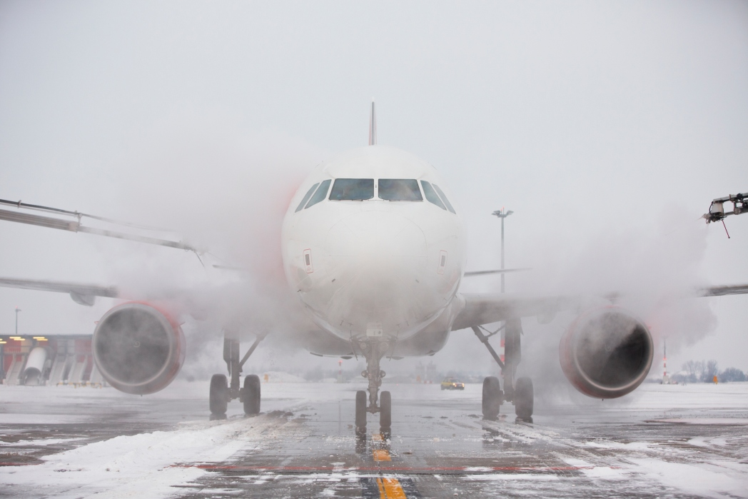 If your flight is canceled due to bad weather, speak to the airline