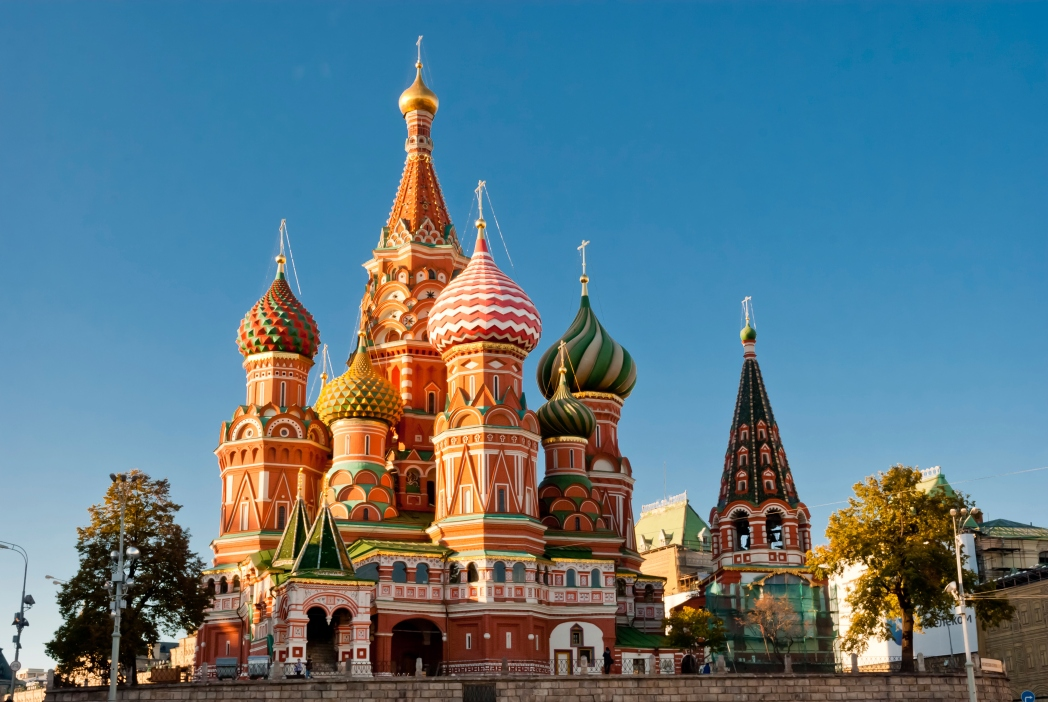 St Basil's Cathedral on Red Square is one of Moscow's most iconic buildings