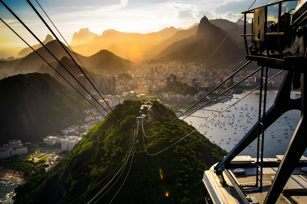 Ride on the funicular to reach the Christ the Redeemer statue