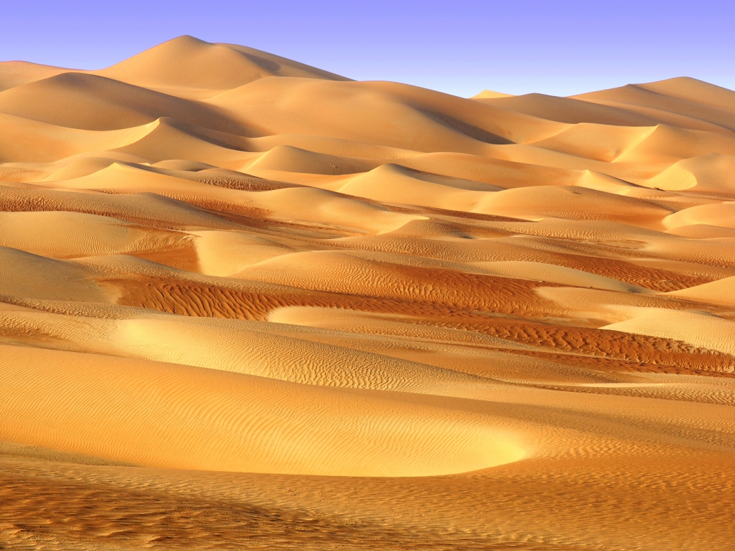 The Abu Dhabi desert is some of the world's most beautiful