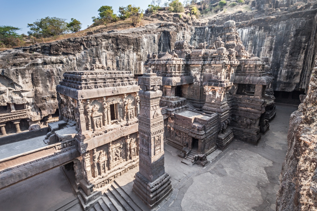 Get to Ellora on an overnight train or a 45 minute plane journey