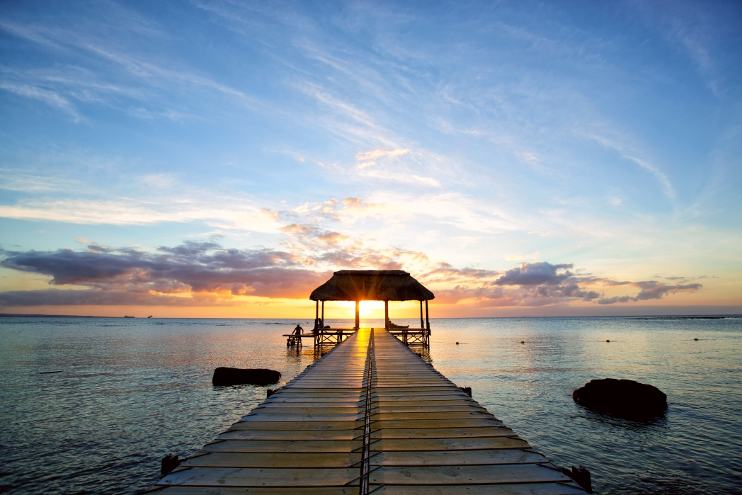 Relax by the sea after a day hiking in Mauritius