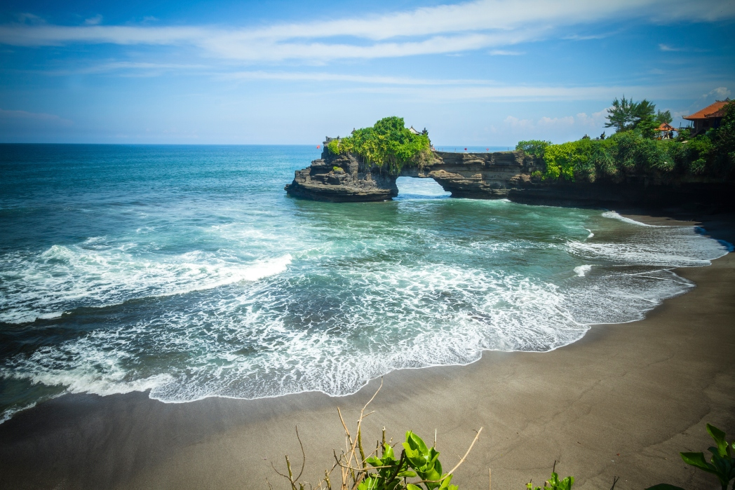 Visit Pura Tanah Lot early in the day to avoid the biggest crowds