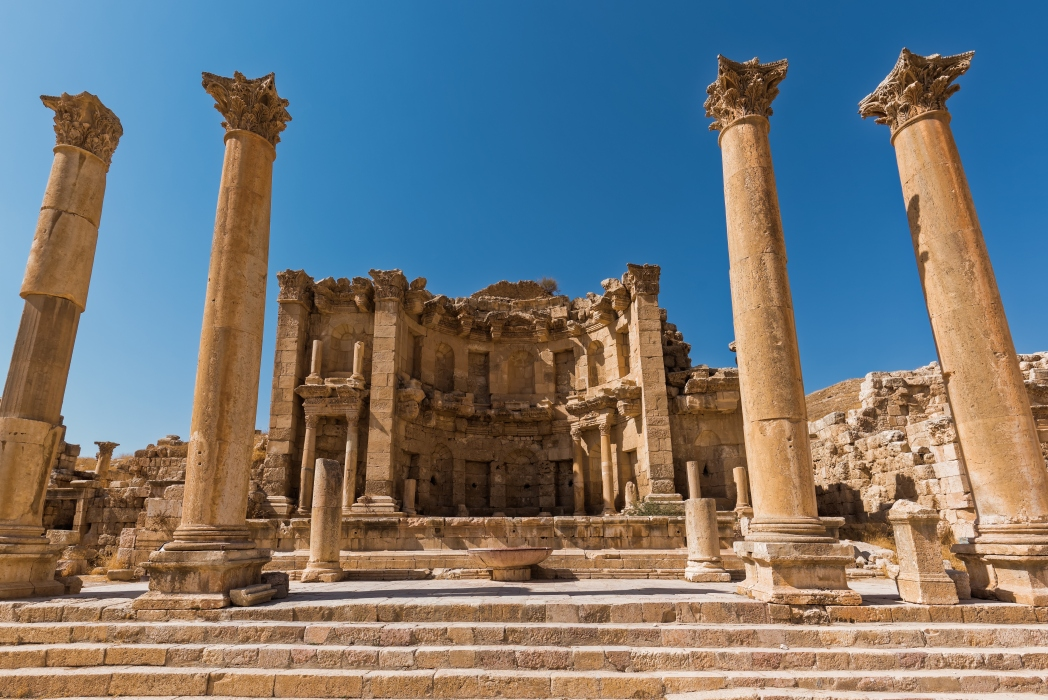 The Roman city of Jerash, Jordan, dates back more than 6,500 years