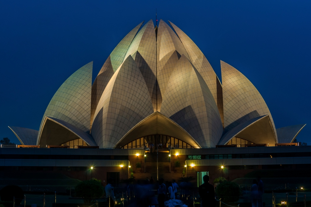 The Lotus Temple is one of Delhi's most visited religious site