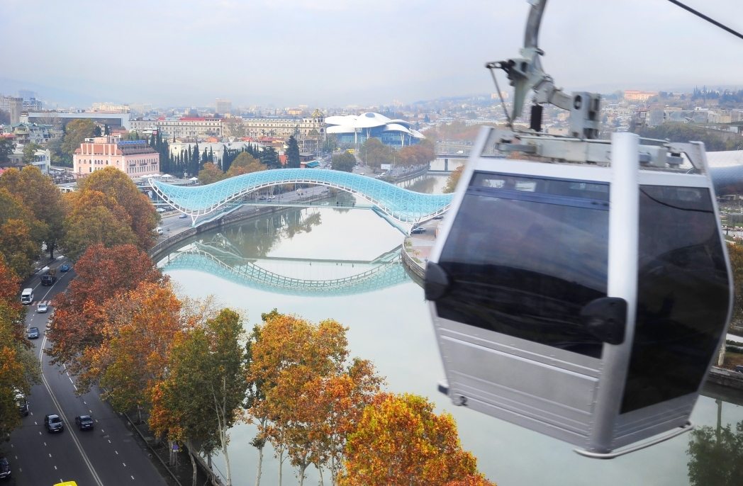 Reach the Narikala Fortress on the Aerial Tramway