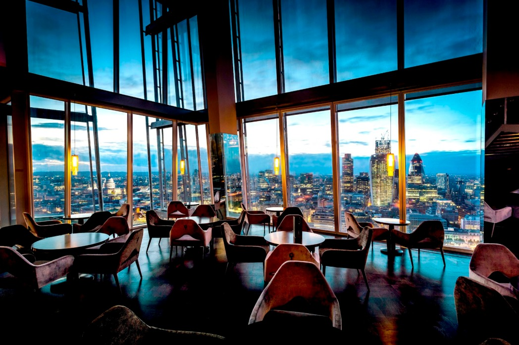 The Aqua Shard restaurant offers great views of London
